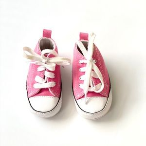 Pink Converse Size 2 infant